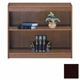 "Unassembled 30""H Contemporary Square Edge Bookcase Mahogany"