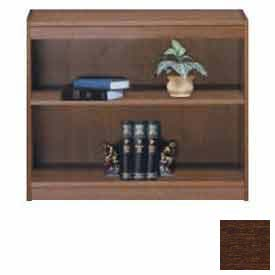 "Unassembled 36""H Contemporary Square Edge Bookcase Walnut"