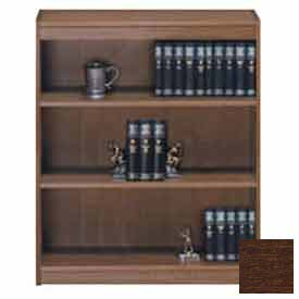 "Unassembled 48""H Contemporary Square Edge Bookcase Walnut"