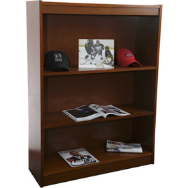"Unassembled 48""H Contemporary Square Edge Bookcase Medium Oak"