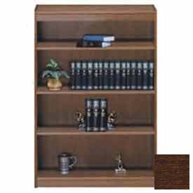 "Unassembled 60""H Contemporary Square Edge Bookcase Walnut"