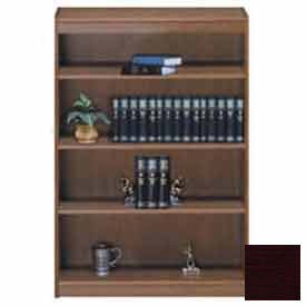 "Unassembled 60""H Contemporary Square Edge Bookcase Mahogany"