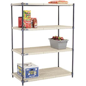Vented Plastic Shelving 48x24x63 Nexelon Finish