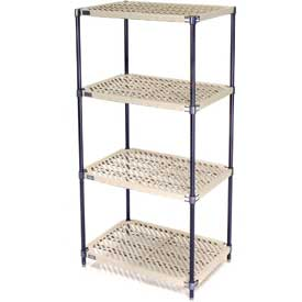 Vented Plastic Shelving 60x18x74 Nexelon Finish