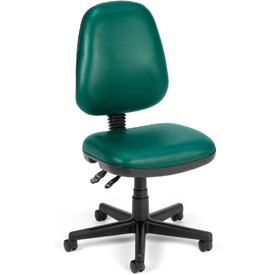OFM Antimicrobial Office Chair - Vinyl - Mid Back - Green