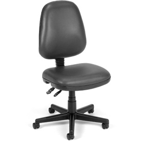 OFM Antimicrobial Office Chair - Vinyl - Mid Back - Gray