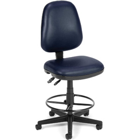 OFM Antimicrobial Stool Without Arms - Vinyl - Blue