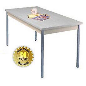 "Utility Table - 30""W X 60""L - Gray with Square Edge"