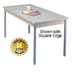 "Utility Table - 30""W X 60""L - Gray with Radius Edge"