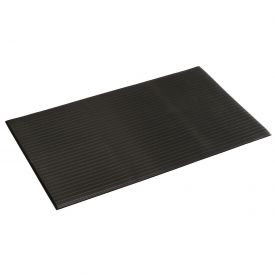 Ribbed Surface Mat Black 3/8 Inch Thick Stock Size 36x60