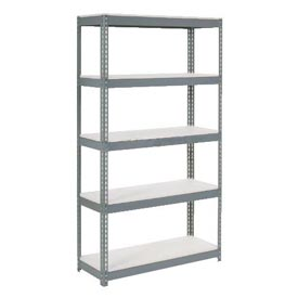 "Extra Heavy Duty Shelving 48""W x 18""D x 96""H With 5 Shelves, 1500 lbs. Capacity Per Shelf, Gray"