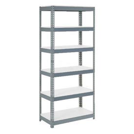 "Extra Heavy Duty Shelving 36""W x 24""D x 96""H With 6 Shelves, 1500 lbs. Capacity Per Shelf, Gray"
