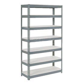 "Extra Heavy Duty Shelving 48""W x 18""D x 96""H With 7 Shelves, 1500 lbs. Capacity Per Shelf, Gray"