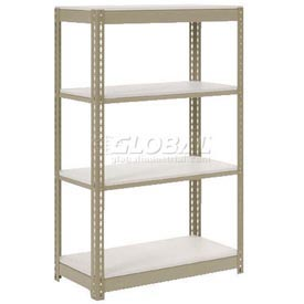 "Extra Heavy Duty Shelving 36""W x 24""D x 60""H With 4 Shelves, 1500 lbs. Capacity Per Shelf, Tan"