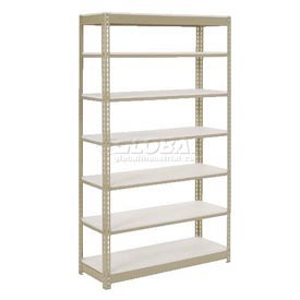 "Extra Heavy Duty Shelving 48""W x 12""D x 60""H With 6 Shelves, 1500 lbs. Capacity Per Shelf, Tan"