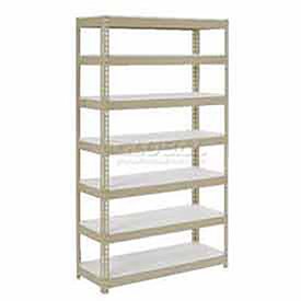 "Extra Heavy Duty Shelving 36""W x 24""D x 84""H With 7 Shelves, 1500 lbs. Capacity Per Shelf, Tan"
