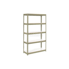 "Extra Heavy Duty Shelving 48""W x 18""D x 96""H With 5 Shelves, 1500 lbs. Capacity Per Shelf, Tan"