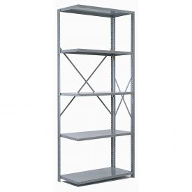 "Penco Steel Shelving 20 Ga 36""WX12""DX 87""H Open Clip Style 5 Shelf Add-On"