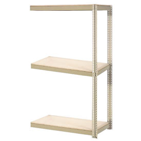 "Expandable Add-On Rack 72""W x 48""D x 84""H Tan With 3 Levels Wood Deck 750lb Cap Per Level"