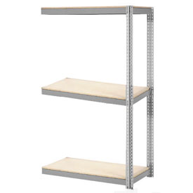 "Expandable Add-On Rack 48""W x 18""D x 84""H Gray With 3 Level Wood Deck 1500lb Cap Per Level"