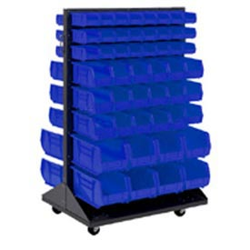 Mobile Double Sided Floor Rack With 84 Akrobins 36x54