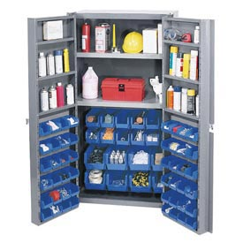 Bin Cabinet Assembled With 16 Inside 48 Door Bins 38inch Wide