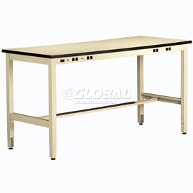 Non Conductive Electronic Workbench 34inch High 96x30 Sand