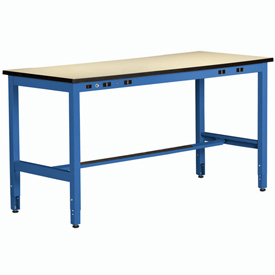 Non Conductive Electronic Workbench 34inch High 60x30 Blue