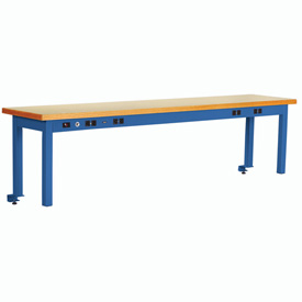 Riser With Power Center ESD Top 72inch Long Blue