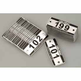 Global™ Locker Number Plate Kit - Pkg Of 199 Numbered 101-299