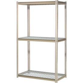"High Capacity Starter Rack 60""W x 36""D x 84""H With 3 Levels Wire Deck 1300lb Cap Per Shelf"