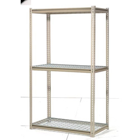 "High Capacity Starter Rack 96""W x 36""D x 84""H With 3 Levels Wire Deck 800lb Cap Per Shelf"