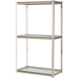 "High Capacity Add-On Rack 60""W x 24""D x 84""H With 3 Levels Wire Deck 1300 Lb Cap Per Level"