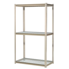 "High Capacity Starter Rack 60""W x 36""D x 96""H With 3 Levels Wire Deck 1300lb Cap Per Shelf"