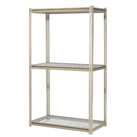 "High Capacity Starter Rack 72""W x 24""D x 96""H With 3 Levels Wire Deck 1000lb Cap Per Shelf"