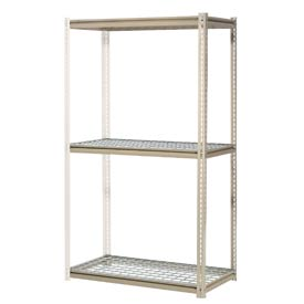 "High Capacity Add-On Rack 48""W x 48""D x 96""H With 3 Levels Wire Deck 1500 Lb Cap Per Level"