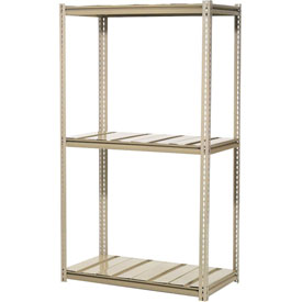 "High Capacity Starter Rack 60""W x 24""D x 84""H With 3 Level Steel Deck 1300lb Cap Per Shelf"