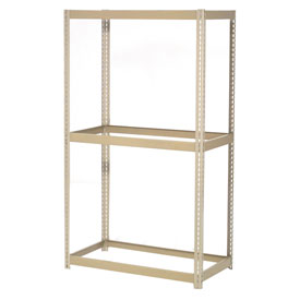 "Expandable Starter Rack 36""W x 18""D x 84""H Tan With 3 Levels No Deck 1500 Lb Cap Per Level"