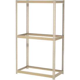 "Expandable Starter Rack 72""W x 48""D x 84""H Tan With 3 Levles No Deck 750 Lb Cap Per Level"