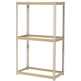 "Expandable Starter Rack 96""W x 24""D x 84""H Tan With 3 Levels No Deck 1100 Lb Cap Per Level"