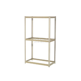 "Expandable Starter Rack 96""W x 48""D x 84""H Tan With 3 Levels No Deck 1100lb Cap Per Level"