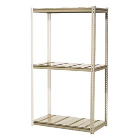 "High Capacity Add-On Rack 48""W x 24""D x 84""H With 3 Levels Steel Deck 1500lb Cap Per Level"