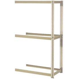 "Expandable Add-On Rack 48""W x 24""D x 84""H Tan With 3 Levels No Deck 1500 Lb Cap Per Level"