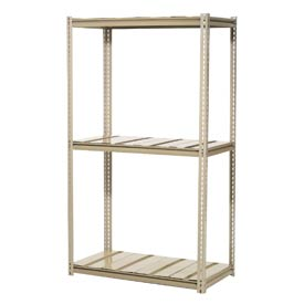 "High Capacity Starter Rack 72""W x 24""D x 96""H With 3 Level Steel Deck 1000lb Cap Per Shelf"