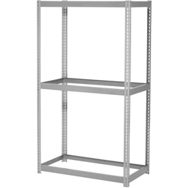 "Expandable Starter Rack 48""W x 24""D x 84""H Gray With 3 Levels No Deck 1500lb Cap Per Level"