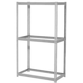 "Expandable Starter Rack 96""W x 36""D x 84""H Gray With 3 Levels No Deck 1100lb Cap Per Level"