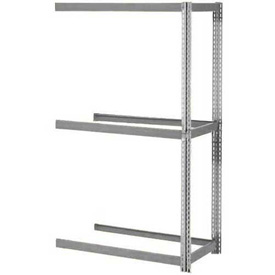 "Expandable Add-On Rack 96""W x 24""D x 84""H Gray With 3 Levels No Deck 1100 Lb Cap Per Level"