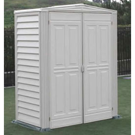 "YardMate Vinyl Outdoor Storage Shed 00982, 5'3""W X 2'8""D X 6'6""H, Includes Vinyl Floor"