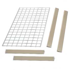 "Bulk Rack Shelf Wire Deck 96""W x 48""D Tan"