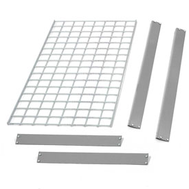 "Bulk Rack Shelf Wire Deck 36""W x 24""D Gray"